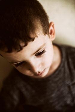 Mohamad Itani SAD LITTLE BOY WITH DARK HAIR Children