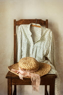 Amy Weiss HAT AND DRESS ON CHAIR Miscellaneous Objects