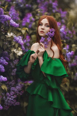 Beata Banach GIRL WITH RED HAIR BY LILAC TREE Women