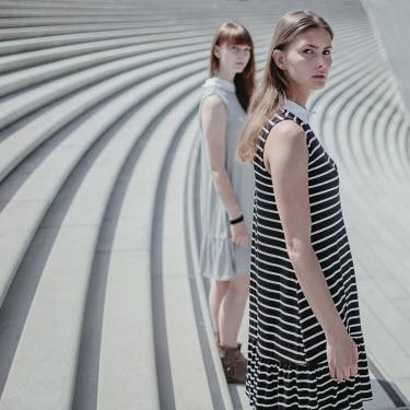 Dasha Pears TWO WOMEN ON STEPS IN SUNLIGHT Women
