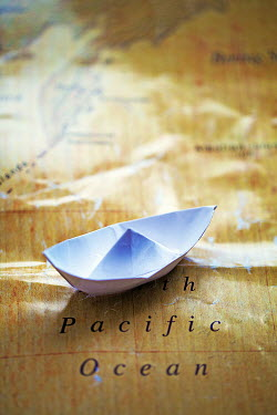 Alison Archinuk PAPER BOAT ON MAP Miscellaneous Objects
