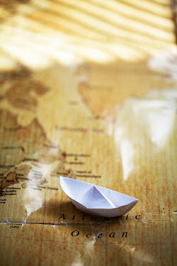 Alison Archinuk ORIGAMI BOAT ON MAP Miscellaneous Objects