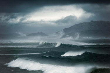 David Baker DARK CLOUDS AND WAVES Seascapes/Beaches