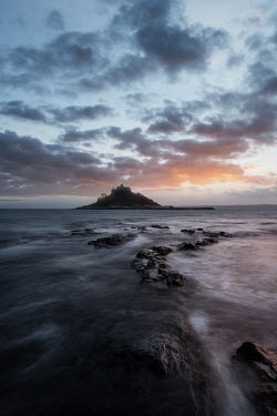 Ollie Taylor Sunset at St Michaels Mount Cornwall Seascapes/Beaches
