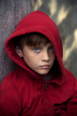 Kelly Sillaste BOY IN RED HOODED TOP Children
