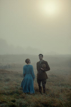 Rekha Garton SOLDIER AND WOMAN IN BLUE DRESS Couples