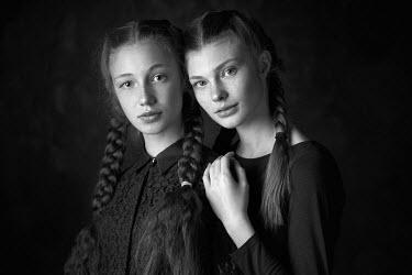 Alexander Vinogradov TWO TEENAGE GIRLS WITH PLAITS Women