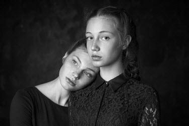 Alexander Vinogradov GIRL LEANING ON SHOULDER OF FEMALE FRIEND Women