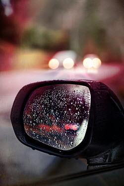 Kelly Sillaste SIDE MIRROR OF CAR IN RAIN Cars