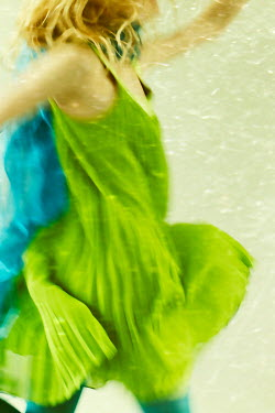 Liz Dalziel BLONDE GIRL IN GREEN DANCING Women