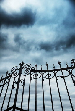 Kyle Stubbs GRAND VICTORIAN GATES WITH STORMY SKY Gates