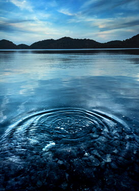 Kyle Stubbs RIPPLES IN LAKE AT DUSK Lakes/Rivers