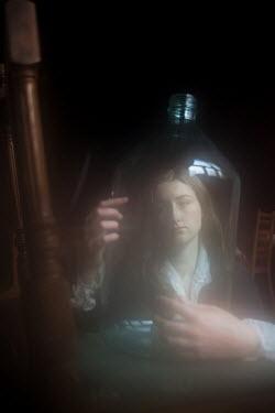 Alina Zhidovinova WOMAN WITH GLASS BOTTLE Women