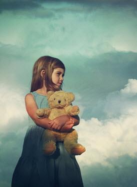 Mark Owen YOUNG GIRL HOLDING TEDDY BEAR Children