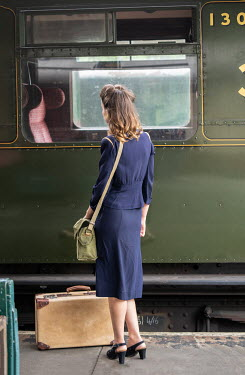 CollaborationJS 1940s WOMAN AT RAILWAY STATION Women