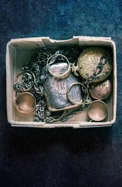 Jill Ferry ANTIQUE JEWELLERY IN BOX Miscellaneous Objects