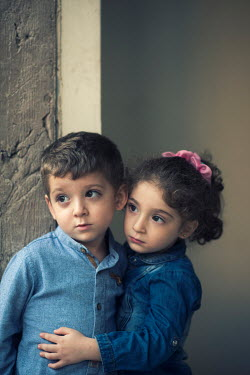 Mohamad Itani BROTHER AND SISTER IN BLUE SHIRTS Children