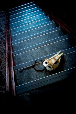 Sally Mundy MASQUERADE MASK LYING ON STEPS Miscellaneous Objects