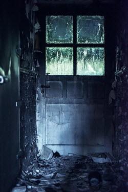 Ysbrand Cosijn HALLWAY AND DOOR OF DERELICT HOUSE Interiors/Rooms