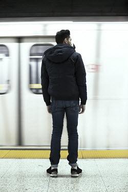 Robin Macmillan YOUNG MAN WAITING FOR TRAIN Men