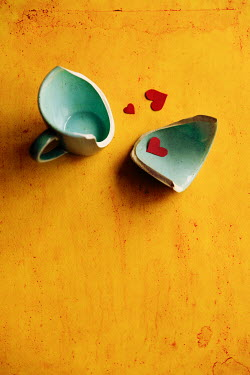 Maria Petkova BROKEN CUP WITH PAPER HEARTS Miscellaneous Objects