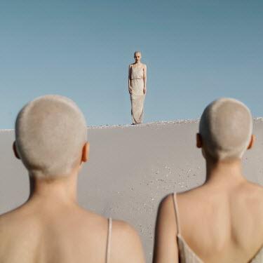 Jovana Rikalo THREE WOMAN WITH SHORT WHITE HAIR Women