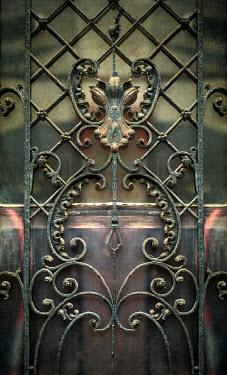 Jaroslaw Blaminsky CLOSE UP OF ORNAMENTAL GATE Building Detail