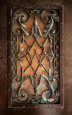 Jaroslaw Blaminsky ORNATE WROUGHT IRON ON DOOR Building Detail