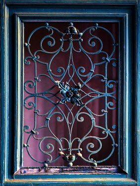 Jaroslaw Blaminsky DECORATIVE GRILL ON OLD WINDOW Building Detail