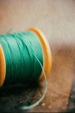 Jill Ferry CLOSE UP OF GREEN COTTON REEL Miscellaneous Objects