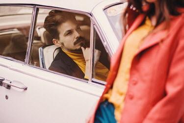 Marta Syrko MAN IN RETRO CAR WITH WOMAN Couples