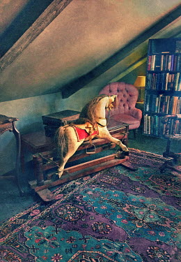 Paul Knight ANTIQUE ROCKING HORSE IN ATTIC Miscellaneous Objects