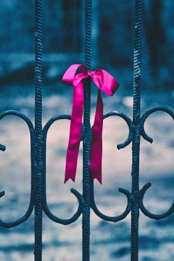 Magdalena Russocka ribbon tied to iron railing Gates