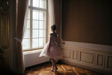 Marta Syrko GIRL IN BALLET DRESS BY WINDOW Women