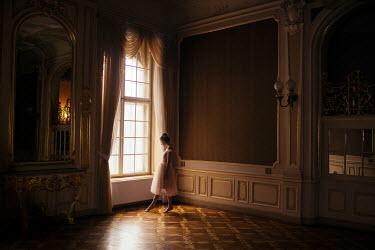 Marta Syrko GIRL BY WINDOW IN GRAND HOUSE Women