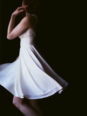 Elisabeth Ansley WOMAN DANCING IN WHITE DRESS Women