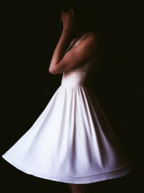 Elisabeth Ansley WOMAN IN WHITE PARTY DRESS Women