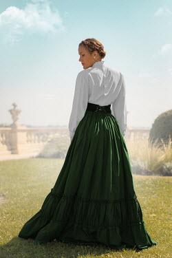 Ildiko Neer Historical woman standing in garden Women