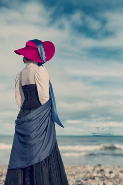 Magdalena Russocka historical woman standing by sea Women