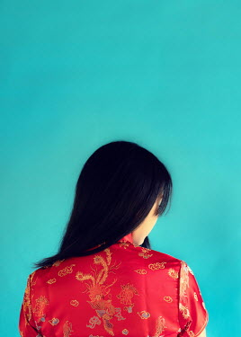 Elisabeth Ansley ASIAN WOMAN IN RED DRESS FROM BEHIND Women