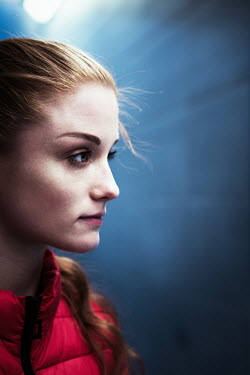 Magdalena Russocka Profile of modern woman in tunnel Women