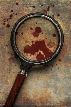 Jaroslaw Blaminsky Magnifying glass with spots of blood Miscellaneous Objects