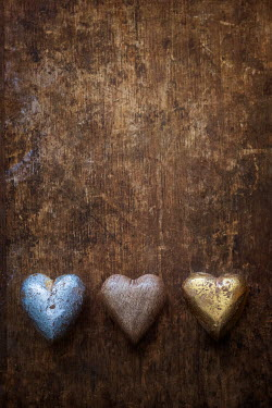Magdalena Wasiczek BLUE BROWN AND GOLDEN HEARTS Miscellaneous Objects