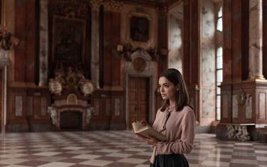 Maxim Guselnikov WOMAN WITH BOOK INSIDE GRAND PALACE Women