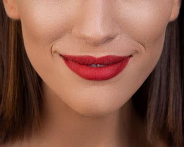 Aida Redzepagic CLOSE UP OF RED FEMALE LIPS Women