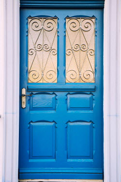 Mohamad Itani BLUE DOOR WITH WROUGHT IRON Building Detail