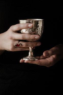 Jane Morley FEMALE HANDS HOLDING SILVER GOBLET Women