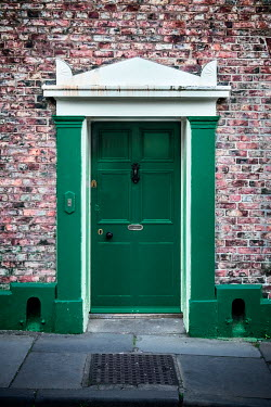 Richard Nixon HISTORICAL GREEN DOOR AND BRICK WALL Building Detail