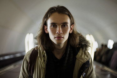 Dmitriy Bilous YOUNG MODERN MAN WEARING PARKA COAT Men