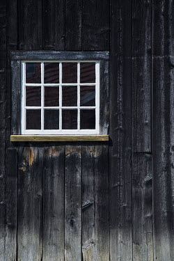 Irene Suchocki WINDOW IN OLD WOODEN HOUSE Building Detail